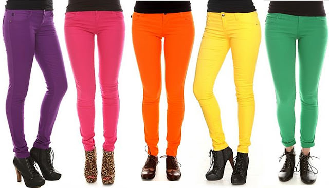 Wear Colored Jeans